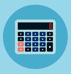Calculator icon accounting device web button vector