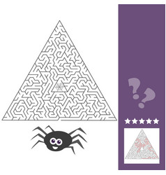 cartoon of education maze or labyrinth activity vector image