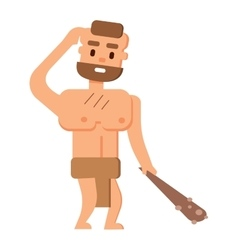 Caveman primitive stone age people vector