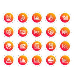 charts and diagrams icons set 3d chart block vector image