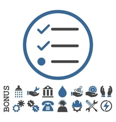 Checklist flat rounded icon with bonus vector