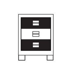 chest of drawers icon image vector image
