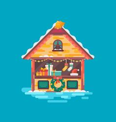 christmas market vector image