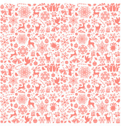 Christmas seamless pattern from holiday elements vector