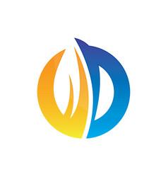 circle leaf business logo image vector image vector image