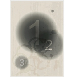 Compositions of number abstract background vector image vector image
