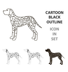 Dalmatian icon in cartoon style for web vector
