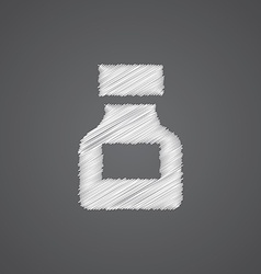 Drugs sketch logo doodle icon vector
