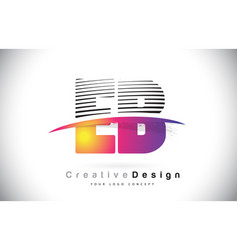 eb e b letter logo design with creative lines and vector image