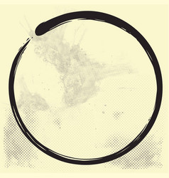 Enso zen circle brush ink vector