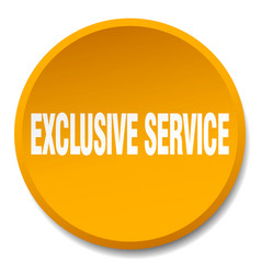 Exclusive service orange round flat isolated push vector