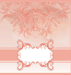 frame and ornate on watercolor background vector image