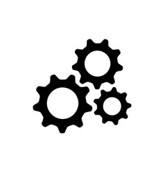 gear setting logo icon vector image