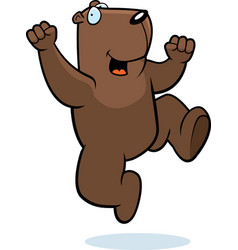 groundhog jumping vector image