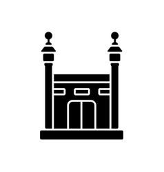 Hajj black glyph icon vector