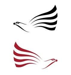 Hawk for tattoo design vector