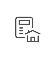 House calculation line icon vector