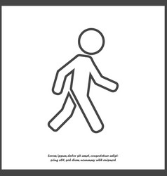 Icon walking pedestrian walking man on white vector