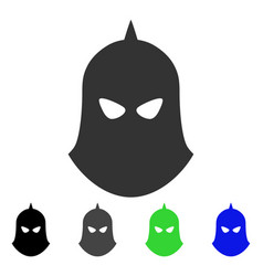 Knight helmet flat icon vector