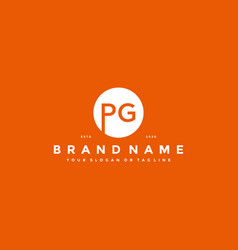 Letter pg logo design vector