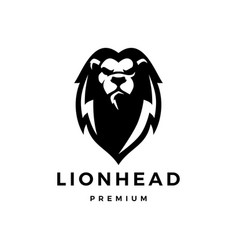 Lion head logo icon vector