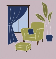 living room corner vector image
