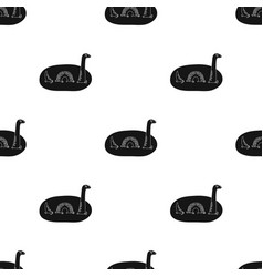 Loch ness monster icon in black style isolated on vector
