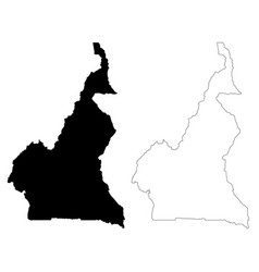 map cameroon isolated black vector image
