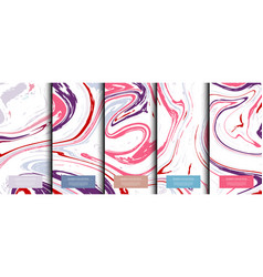 marble collection abstract liquid pattern texture vector image