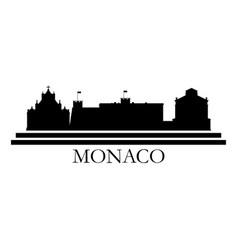 Monaco skyline vector