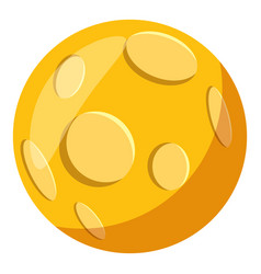 Moon icon cartoon style vector