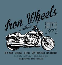 Motorcycle creative poster vector