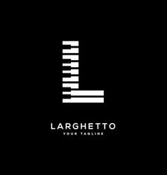 Music letter l vector