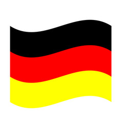 official national flag of germany vector image