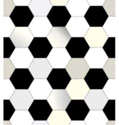 Patchwork of hexagons vector