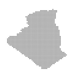 pixel map of algeria dotted map of algeria vector image
