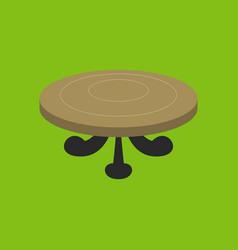 Poker table flat vector