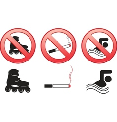 prohibitive signs vector image