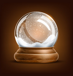 Realistic christmas snowglobe 3d winter toy vector