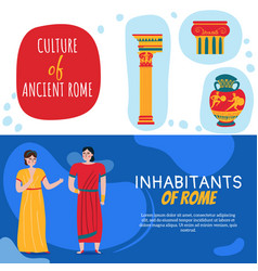 rome horizontal banners set vector image