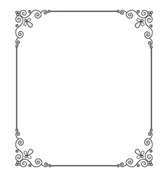 Scroll border vector image