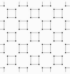 seamless monochrome minimalistic square pattern vector image