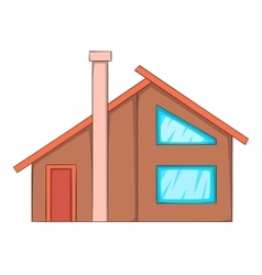 Semi house icon cartoon style vector