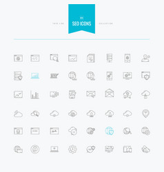 seo technology internet interface and more vector image vector image