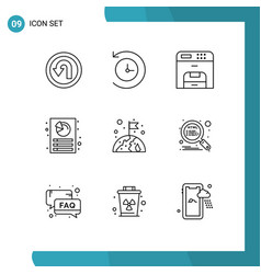 Set 9 commercial outlines pack for world earth vector
