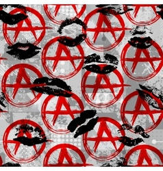 Signs anarchy with black kisses vector