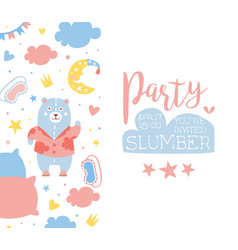 slumber party banner template childish holiday vector image