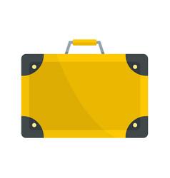 travel suitcase icon flat style vector image