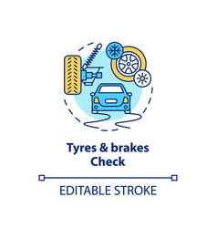 tyres and brakes check concept icon vector image