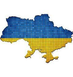 Ukraine map grunge mosaic vector image